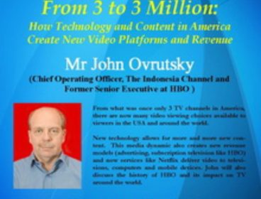 Public Lecture: From 3 to 3 Million by Mr. John Ovrutsky (12 March 2015)